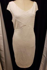 Plus size Bisou Bisou Michelle Bohbot White Dress